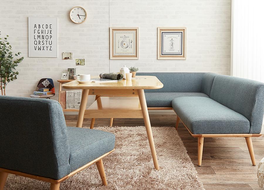 おしゃれカフェのような北欧ダイニングソファスタイル