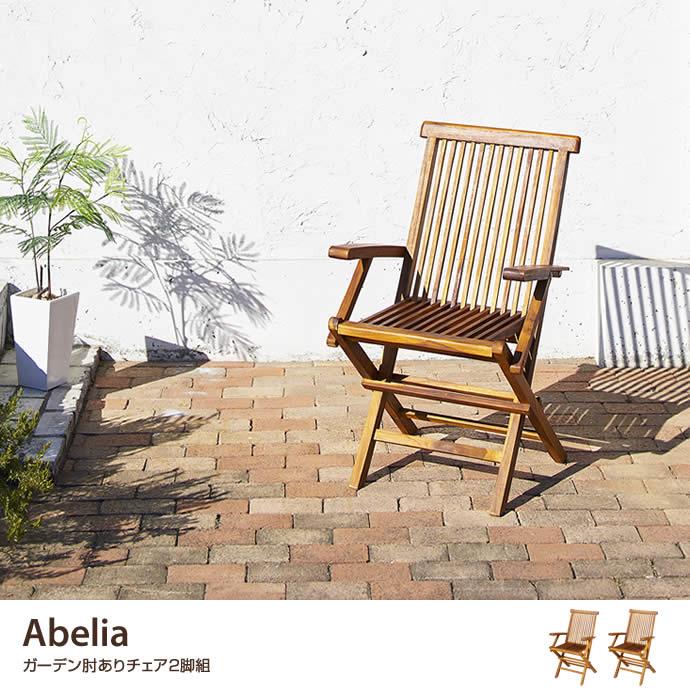 【2脚組】Abelia ガーデンチェア(肘あり)