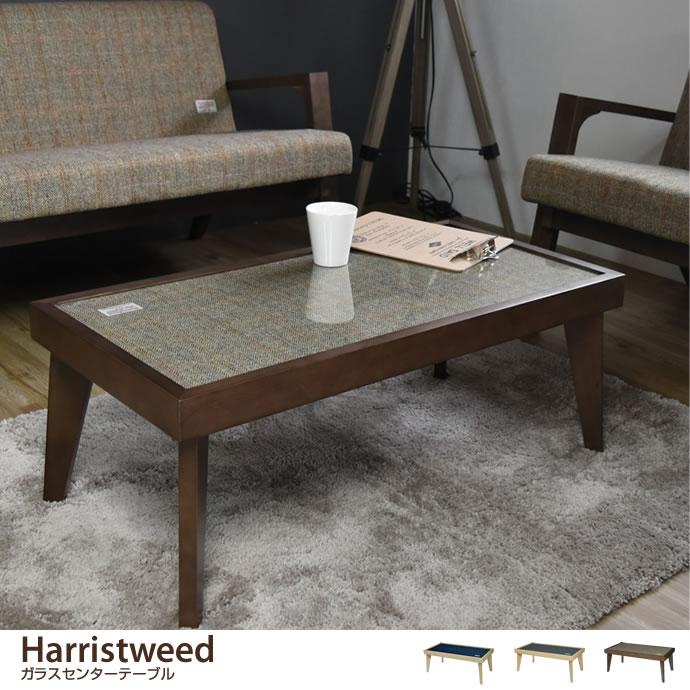 Harristweed ガラスセンターテーブル