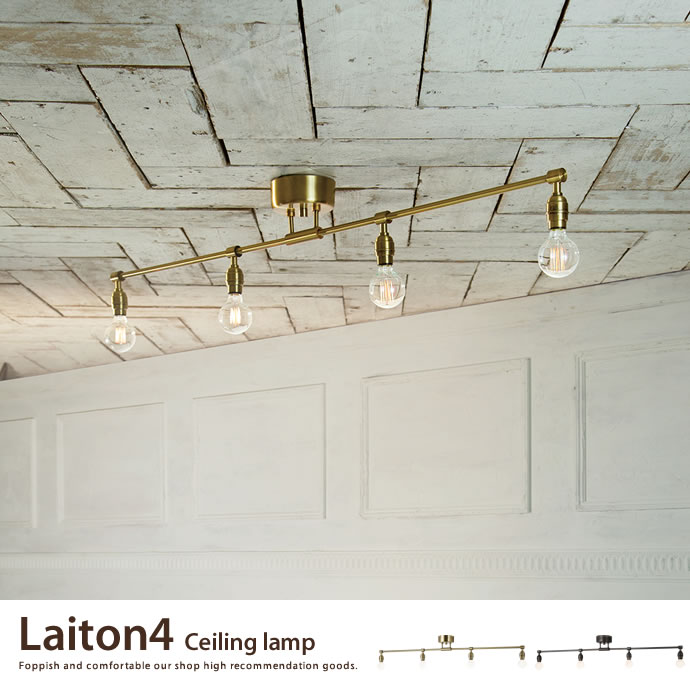 Laiton 4 ceiling lamp