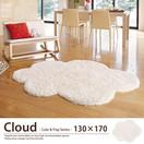 キュート&ポップ 雲シルエットラグマット カーペット