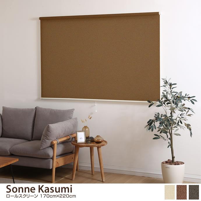【170cm×220cm】 Sonne Kasumi ロールスクリーン